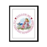 Follow Me To Wonderland Framed Panel Print