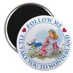 Follow Me To Wonderland Magnet