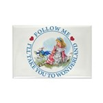 Follow Me To Wonderland Rectangle Magnet (10 pack)