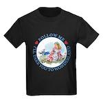 Follow Me To Wonderland Kids Dark T-Shirt
