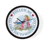 Follow Me To Wonderland Wall Clock