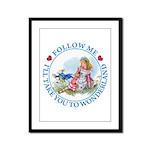 Follow Me To Wonderland Framed Panel Print