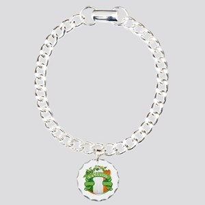 Collins Shield Charm Bracelet, One Charm