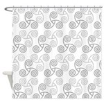 Celtic Triple Spiral Shower Curtain