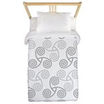 Celtic Triple Spiral Twin Duvet Cover
