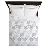 Celtic Triple Spiral Queen Duvet Cover