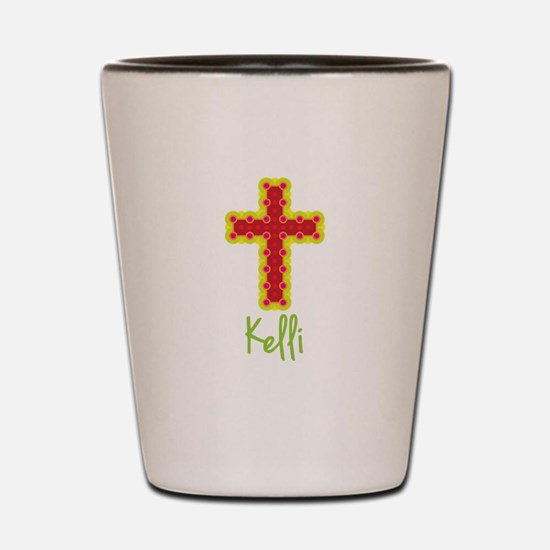 Kelli Bubble Cross Shot Glass