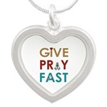 Give Pray Fast Necklaces