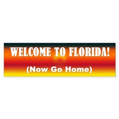 Welcome to Florida Bumper Bumper Sticker