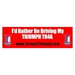 Toronto Triumph Club TR4A Sticker (Bumper)