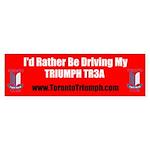 Toronto Triumph Club TR3A Sticker (Bumper)