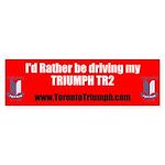 Toronto Triumph Club TR2 Sticker (Bumper)