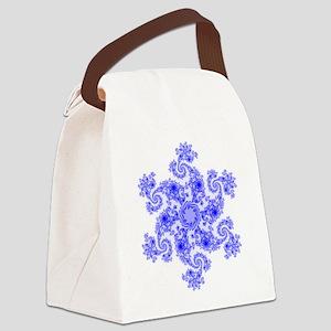 Fractal Snowflake Canvas Lunch Bag