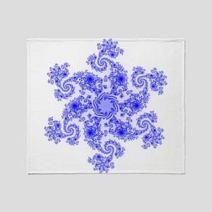 Fractal Snowflake Throw Blanket