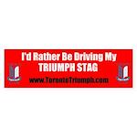 Toronto Triumph Club STAG Bumper Sticker
