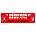 Toronto Triumph Club Spitfire Bumper Sticker