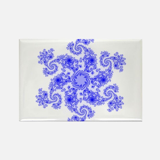 Fractal Snowflake Rectangle Magnet