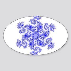 Fractal Snowflake Sticker (Oval)