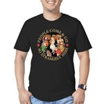 People Come and Go Men's Fitted T-Shirt (dark)