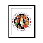 People Come and Go Framed Panel Print