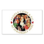 People Come and Go Sticker (Rectangle 10 pk)