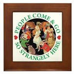 People Come and Go Framed Tile