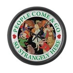 People Come and Go Large Wall Clock