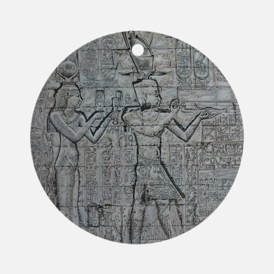 Cleopatra and Caesarion Ornament (Round)