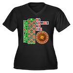 Roulette2 Women's Plus Size V-Neck Dark T-Shirt