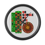 Roulette2 Large Wall Clock