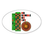 Roulette2 Sticker (Oval)