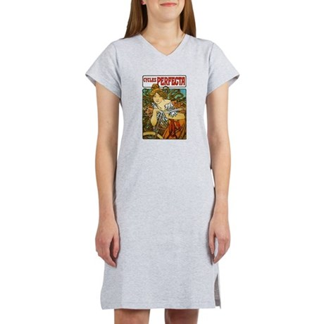 Art Nouveau Bicycle Women's Nightshirt
