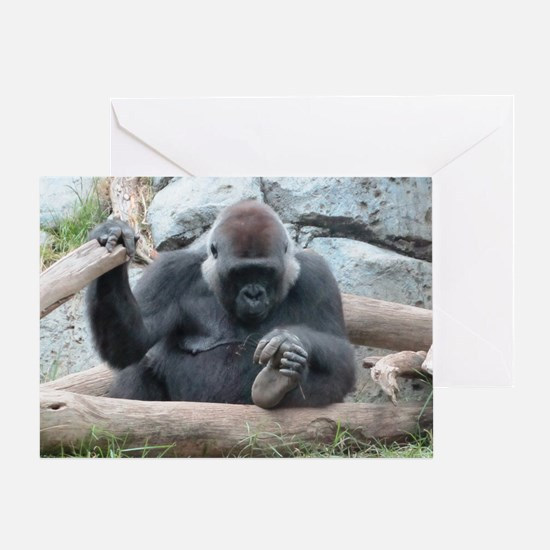 I LOVE GORILLAS Greeting Card