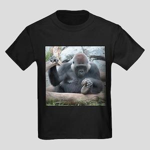 I LOVE GORILLAS Kids Dark T-Shirt