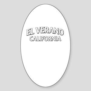 El Verano California Sticker (Oval)