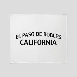 El Paso de Robles California Throw Blanket