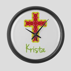 Krista Bubble Cross Large Wall Clock