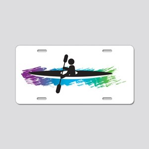 Kayak Simple Aluminum License Plate