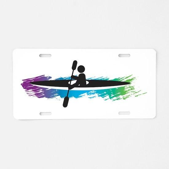 Kayak Simple Aluminum License Plate