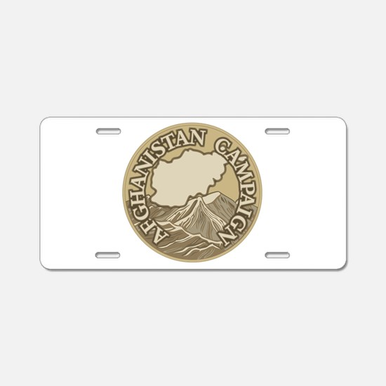 Afghanistan Campaign Aluminum License Plate