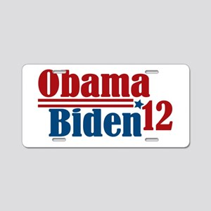 Obama Biden 2012 Aluminum License Plate