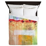 Colorfields Abstract Queen Duvet Cover