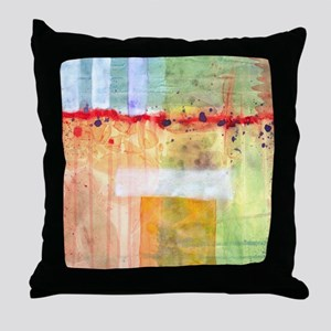Colorfields Abstract Throw Pillow
