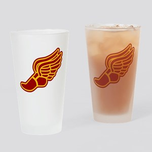 Red and gold track foot Drinking Glass