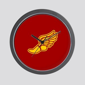 Track foot - red and gold Wall Clock
