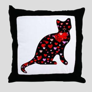 Cat Lover Throw Pillow