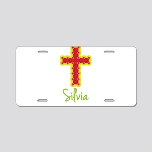 Silvia Bubble Cross Aluminum License Plate