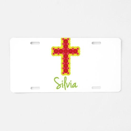 Silvia Bubble Cross Aluminum License Plate