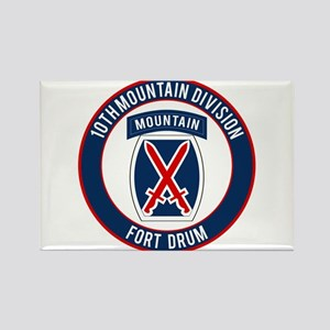 10th Mountain Ft Drum Rectangle Magnet