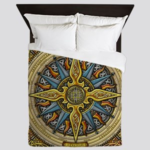 Celtic Compass Queen Duvet Cover